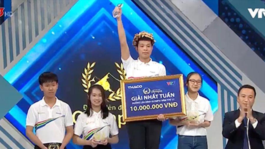 Phong độ ổn định suốt 4 phần thi, nam sinh xứ Lạng xuất sắc giành vòng nguyệt quế Olympia