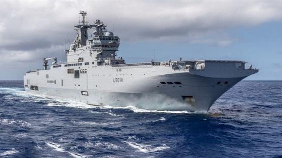 Pháp điều chiến hạm tới Biển Đông để tham gia tập trận cùng Bộ Tứ kim cương