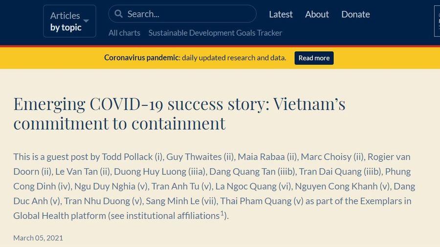 Phân tích câu chuyện chống dịch Covid-19 thành công của Việt Nam