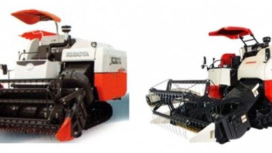 'Cuộc đua song mã' máy gặt đập liên hợp Kubota và Yanmar