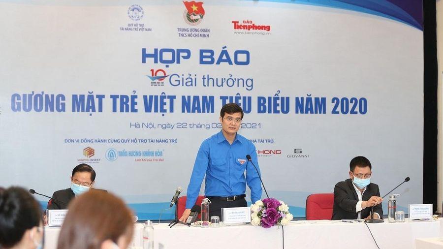 Công bố 10 gương mặt trẻ Việt Nam tiêu biểu năm 2020