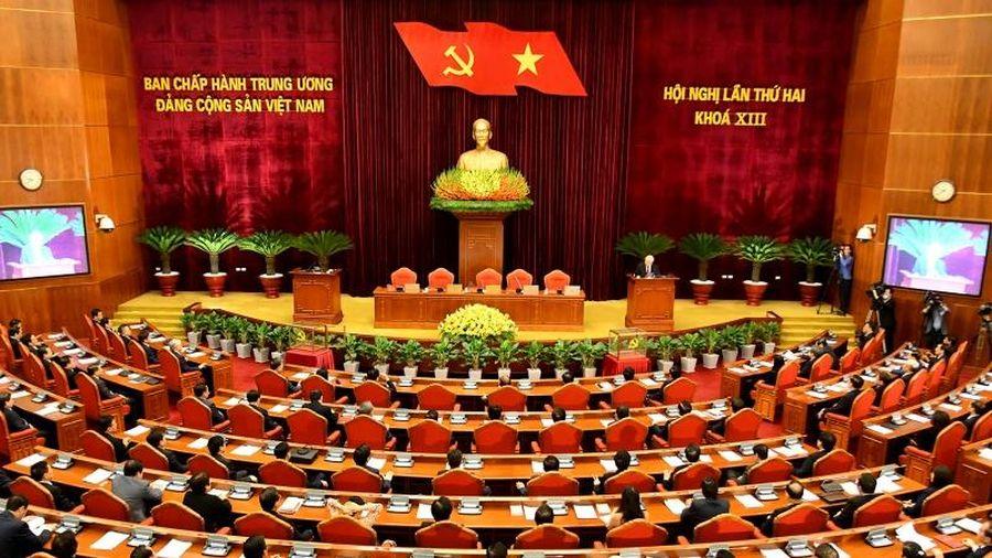 Thông cáo báo chí về phiên bế mạc của Hội nghị lần thứ hai Ban Chấp hành T.Ư Đảng khóa XIII