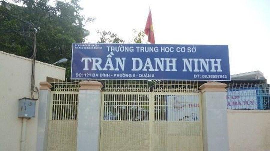 Trường cấp 2 Trần Danh Ninh mua sắm 12 bảng từ di động nhưng không lập dự toán
