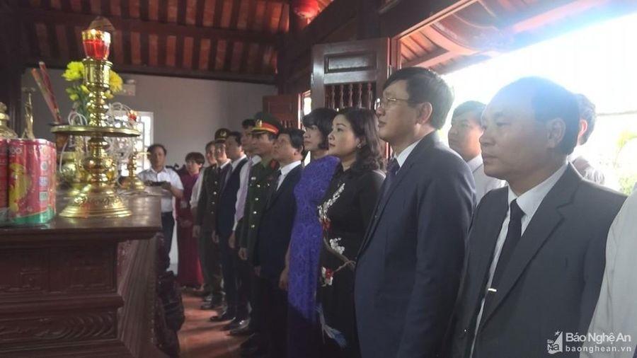 Huyện Nam Đàn tưởng niệm 88 năm ngày mất nhà cách mạng Lê Hồng Sơn