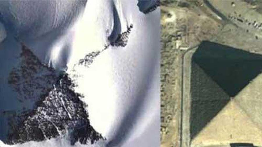 Kim tự tháp bí ẩn nổi lên ở Nam Cực