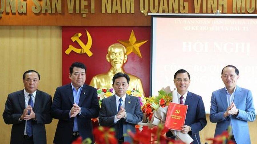 Chủ tịch UBND huyện Thạch Hà làm Giám đốc Sở Kế hoạch và Đầu tư Hà Tĩnh