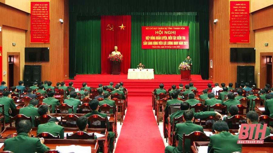 Bộ Chỉ huy Quân sự tỉnh tổ chức hội nghị hiệp đồng nhiệm vụ huấn luyện năm 2021
