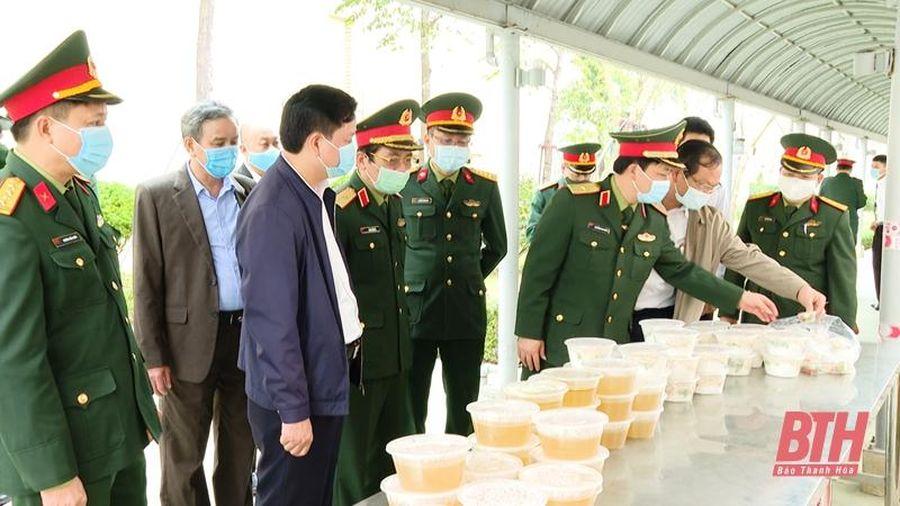 Bộ Tư lệnh Quân khu 4 kiểm tra công tác phòng, chống dịch COVID-19 tại Thanh Hóa