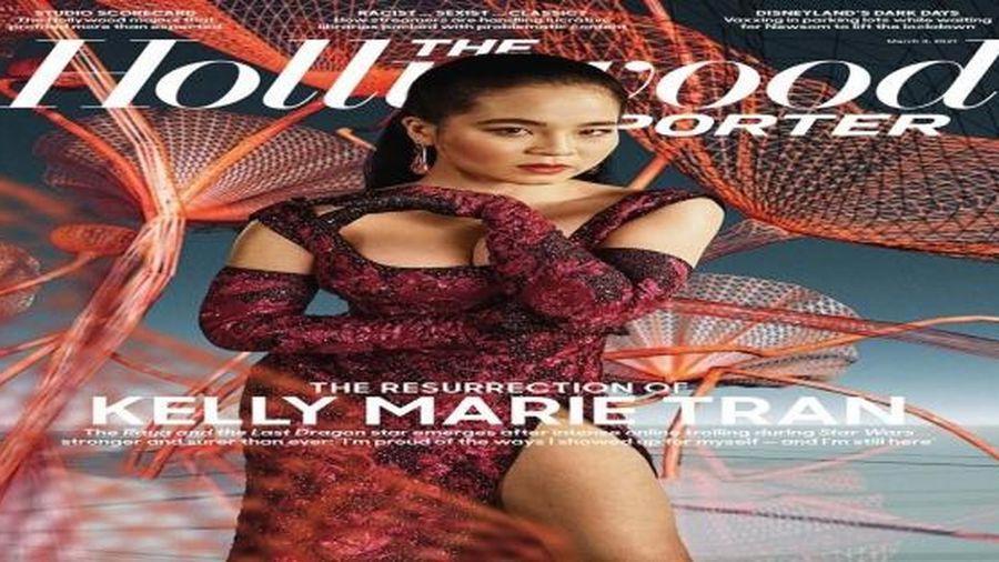 Sao gốc Việt Kelly Marie Trần diện đầm của Công Trí xuất hiện trên báo The Hollywood Reporter