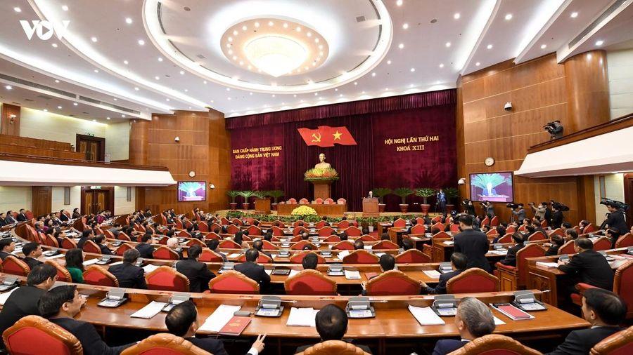 Thông cáo báo chí phiên bế mạc Hội nghị Trung ương 2, khóa XIII
