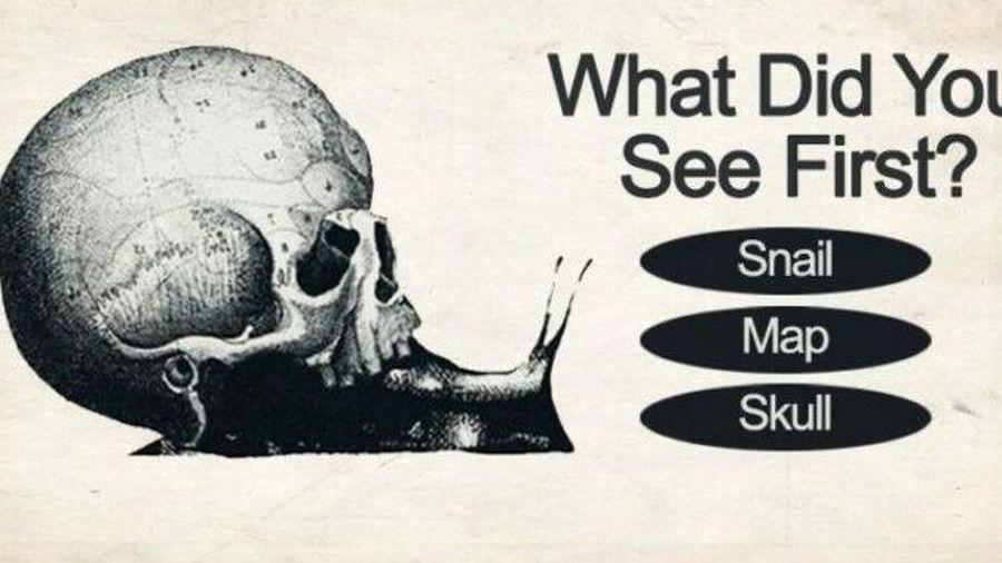 Trắc nghiệm vui đoán tính cách: Hình ảnh đầu tiên bạn thấy là hộp sọ hay ốc sên?
