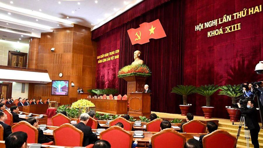 Thông cáo báo chí về phiên bế mạc của Hội nghị lần thứ hai Ban Chấp hành Trung ương Đảng khóa XIII