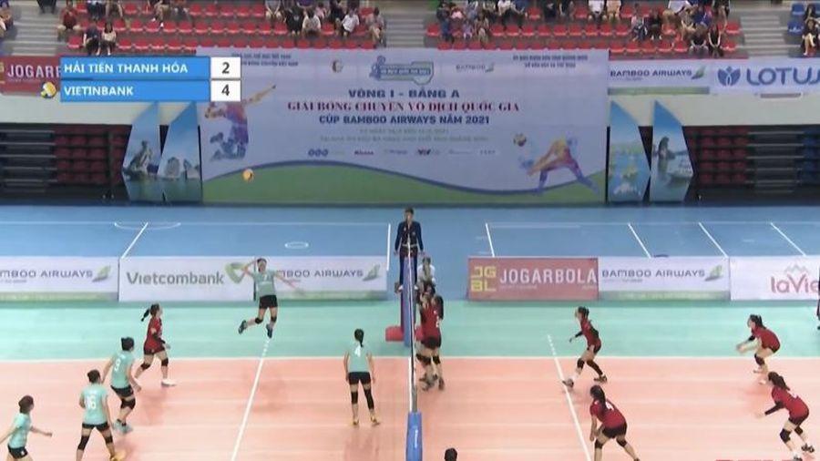 Giải bóng chuyền VĐQG 2021: Hải Tiến Thanh Hóa nhận thêm thất bại sau trận cầu nghẹt thở