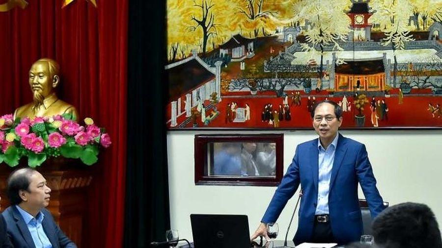 Bộ trưởng Ngoại giao Bùi Thanh Sơn: 5 nhiệm vụ trung tâm của cán bộ ngoại giao