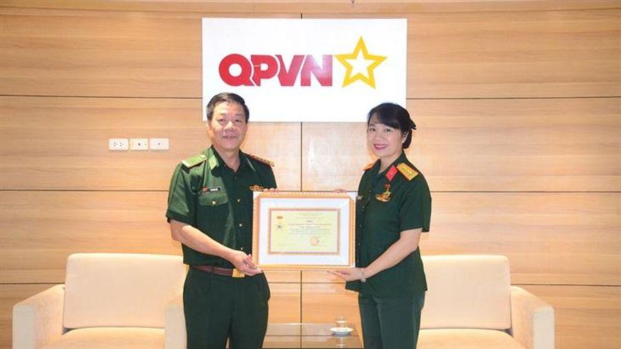 Bộ Tư lệnh BĐBP trao tặng Kỷ niệm chương 'Vì chủ quyền an ninh biên giới'
