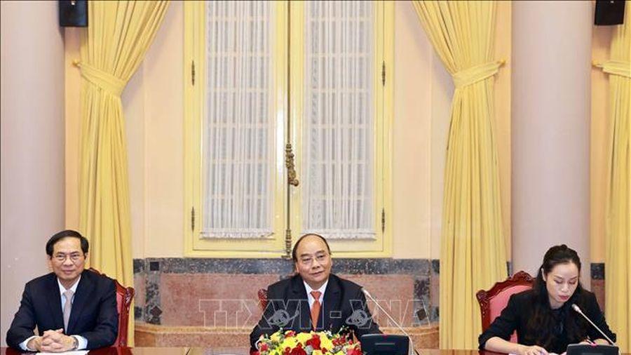 Chủ tịch nước Nguyễn Xuân Phúc tiếp Đại sứ, Đại biện các nước thành viên ASEAN