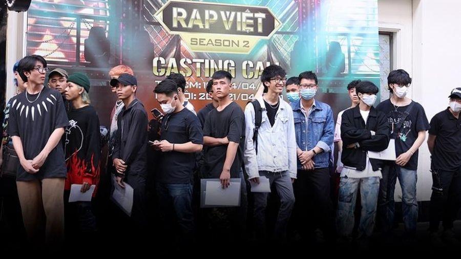 Casting Rap Việt Mùa 2 'cực nóng'. Thí sinh xếp hàng dài cả cây số