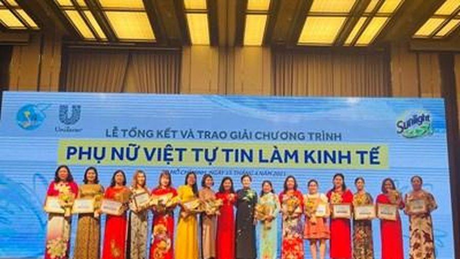 Lễ tổng kết và trao giải chương trình 'Phụ nữ Việt tự tin làm kinh tế'