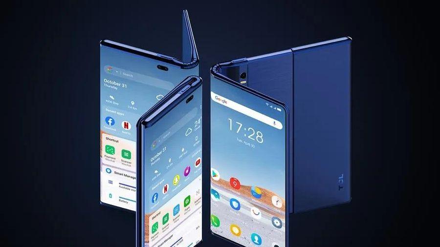 TCL giới thiệu khái niệm Fold 'n Roll, điện thoại có màn hình gập và cuộn lại được