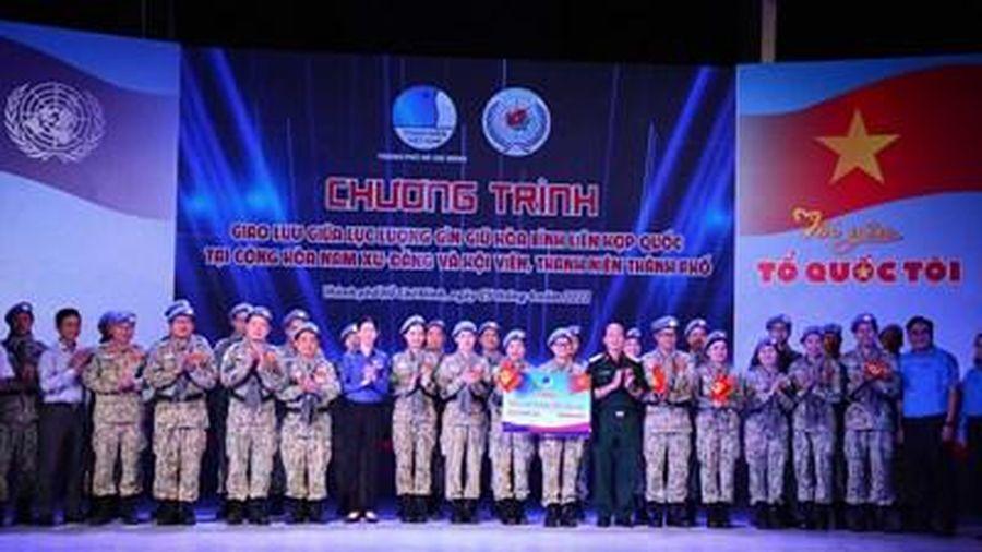 Giao lưu Lực lượng Gìn giữ hòa bình Liên hợp quốc tại Nam Sudan với thanh niên TP Hồ Chí Minh