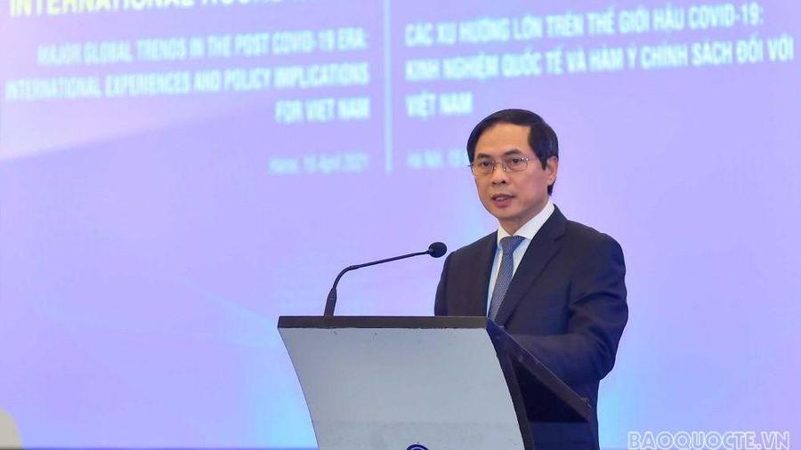 Bộ trưởng Ngoại giao Bùi Thanh Sơn: Đối ngoại sẽ đóng vai trò tiên phong kết nối Việt Nam với các xu thế phát triển lớn của thế giới