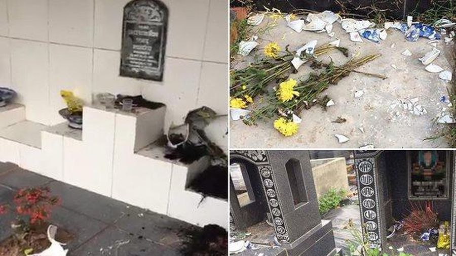 Hải Phòng: Hơn 100 ngôi mộ bị đập phá bát hương, đồ thờ