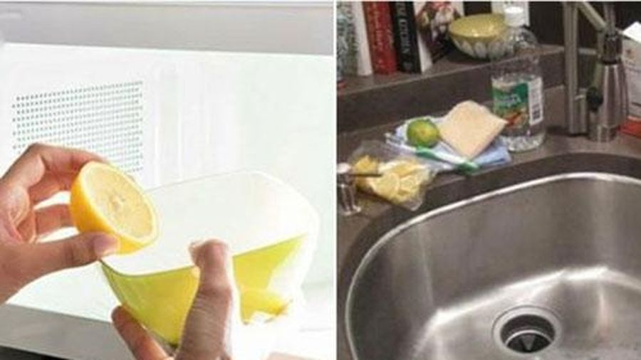 Vắt chanh xong đừng vội ném bỏ vỏ, cứ cho vào bồn rửa bát theo cách này, cả ngày nhà vẫn thơm phức