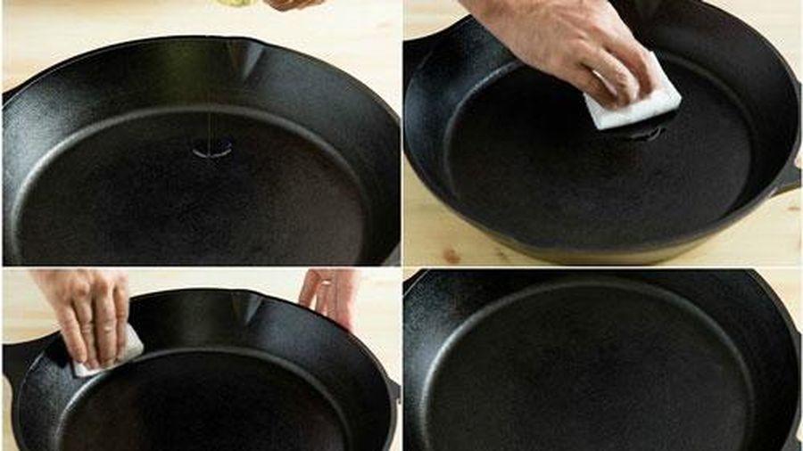 Chảo chống dính dùng cả năm không xước hay bong tróc chỉ nhờ một thao tác đơn giản này