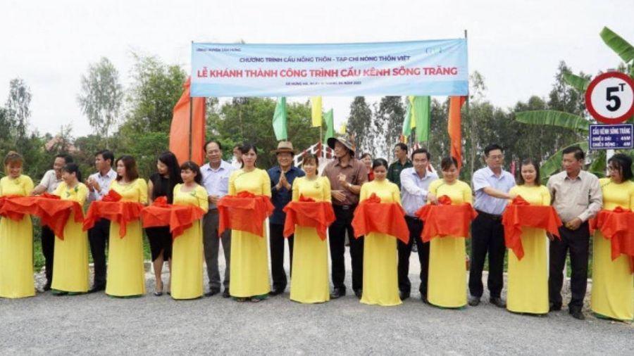 Long An: Khánh thành 17 cầu nông thôn ở huyện biên giới Tân Hưng, Vĩnh Hưng