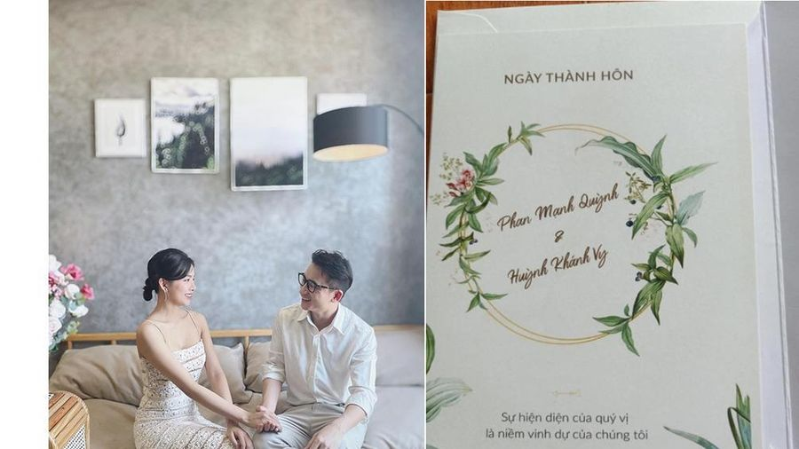 Phan Mạnh Quỳnh lộ thiệp mời cưới và hình ảnh lễ đường tại Nghệ An