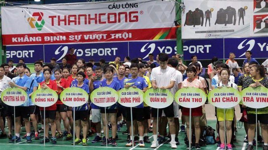 Hơn 210 VĐV dự Giải vô địch Cầu lông CLB các tỉnh, thành, ngành toàn quốc năm 2021