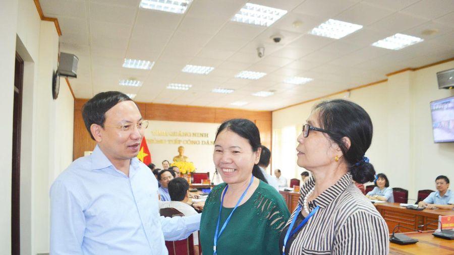 Đồng chí Bí thư Tỉnh ủy Nguyễn Xuân Ký tiếp công dân định kỳ