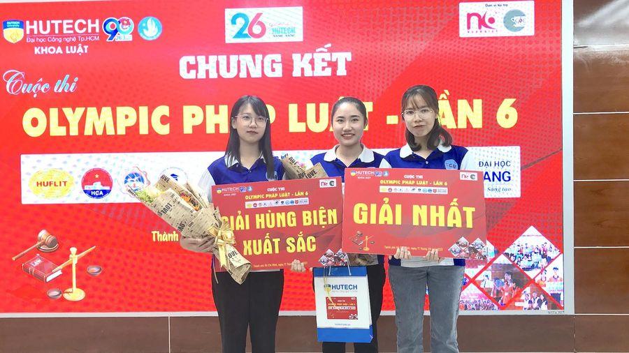 Trường Đại học Sài Gòn đoạt giải nhất Olympic pháp luật