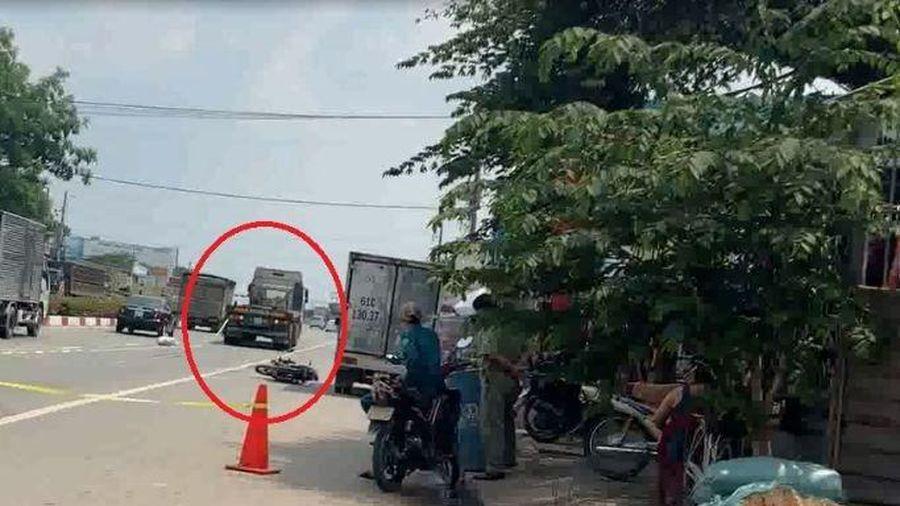 Người phụ nữ bị xe container cán tử vong
