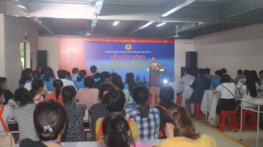 Công đoàn Khu Kinh tế Nghi Sơn và các khu công nghiệp phát động hưởng ứng 'Tháng Công nhân' năm 2021