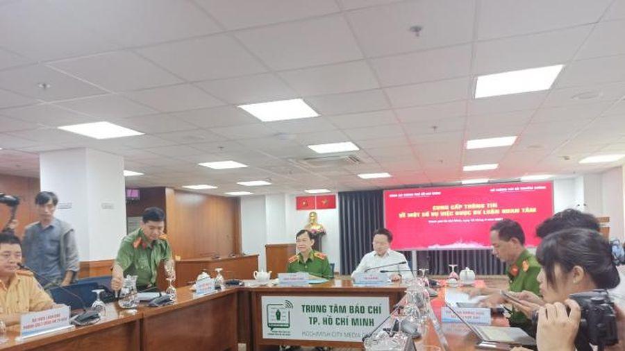 Công an TP HCM thông tin vụ bắt Lê Chí Thành
