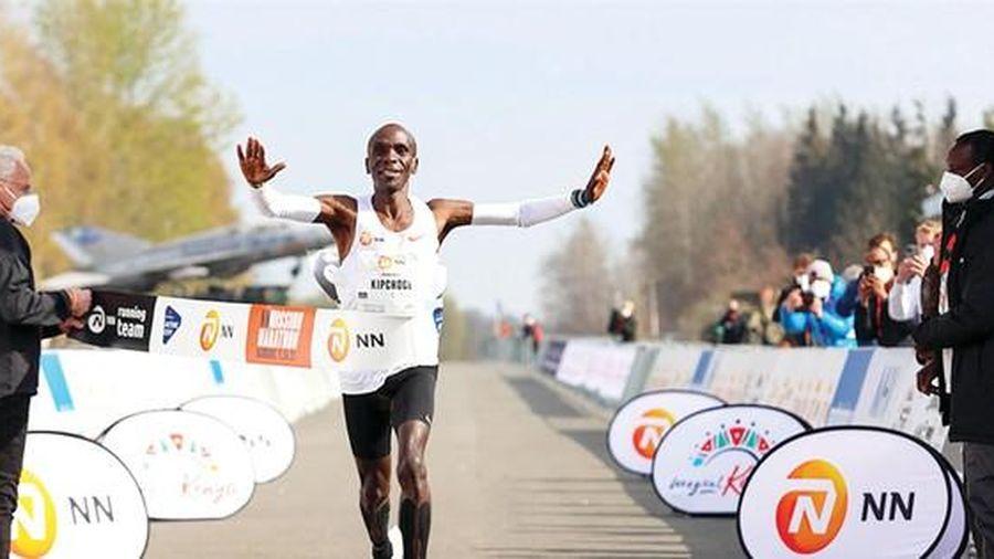 Vua marathon Eliud Kipchoge trở lại ngôi vương
