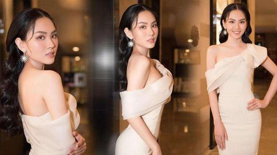 Người đẹp Mai Phương diện đầm lệch vai khoe lưng trần gợi cảm