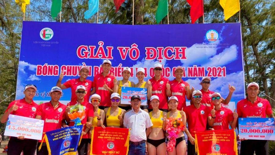 Giải vô địch bóng chuyền bãi biển 4 x 4 quốc gia: Nam Nữ Sanvinest Khánh Hòa vô địch