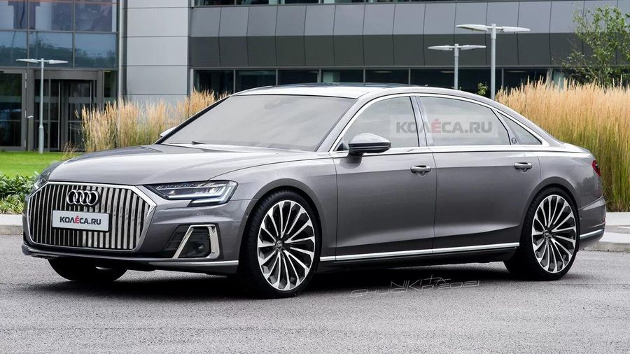 Xem trước hình ảnh Audi A8L mới, đối trọng Mercedes-Maybach S-Class