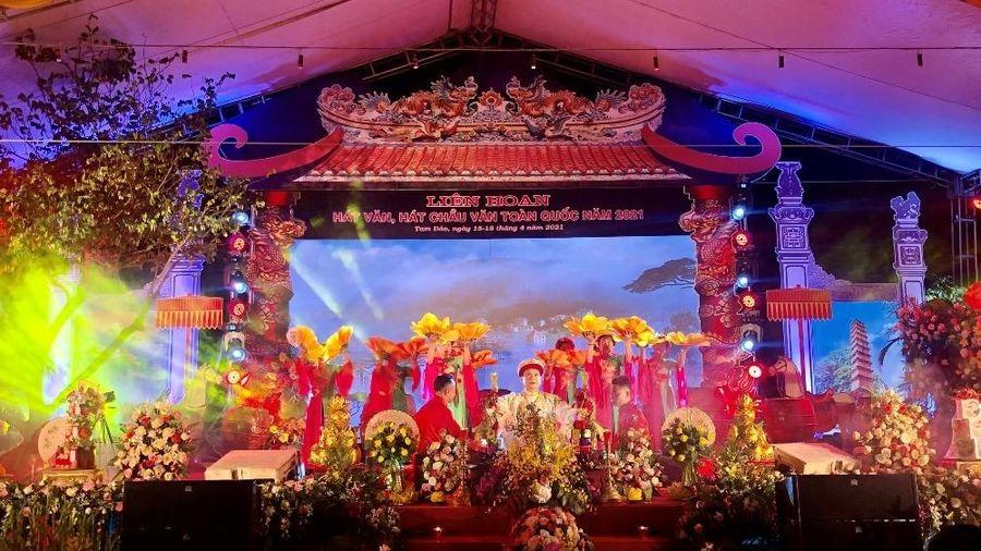 Bế mạc Liên hoan hát văn, hát chầu văn toàn quốc tại Vĩnh Phúc