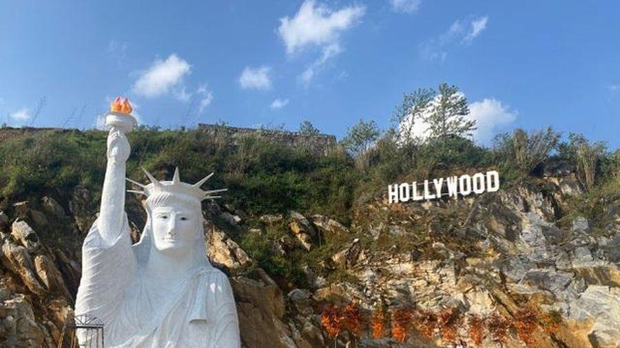 Sa Pa: Lập đoàn kiểm tra công trình tượng Nữ thần tự do bản 'đột biến'