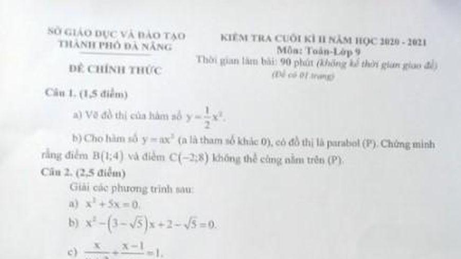 Nghi lộ đề kiểm tra học kỳ II môn Toán, Sở GD-ĐT Đà Nẵng nói gì?
