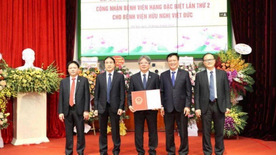 BV Hữu nghị Việt Đức được công bố Bệnh viện hạng đặc biệt lần 2