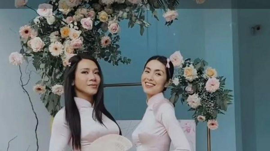 Mặc đồ giản dị đi tiệc cưới, Hà Tăng vẫn 'chặt đẹp' dàn phù dâu
