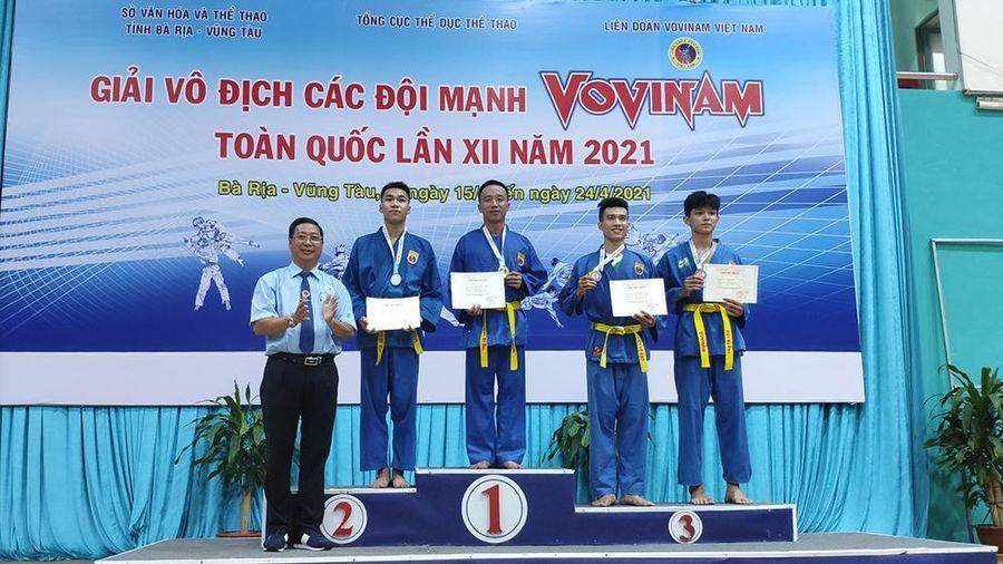 Bắc Giang giành 3 huy chương tại Giải Vovinam toàn quốc