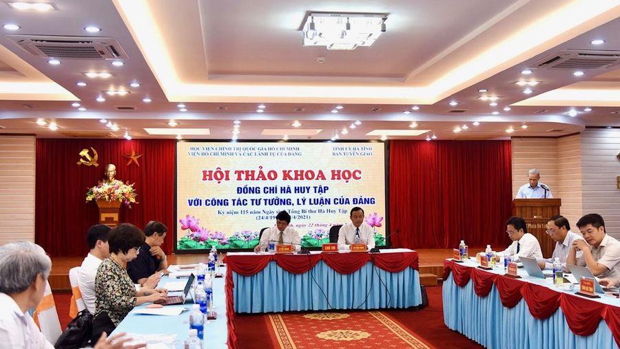 'Đồng chí Hà Huy Tập với công tác tư tưởng, lý luận của Đảng'