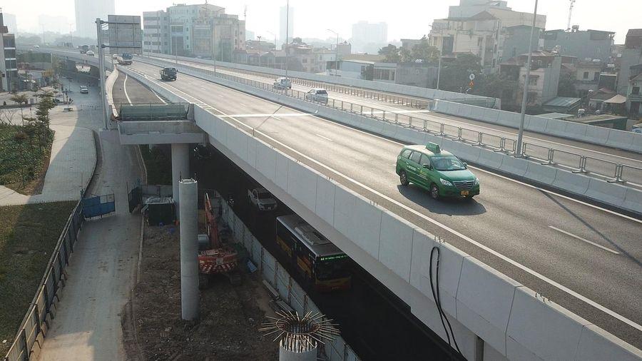 Cấm xe chạy qua cầu cạn Mai Dịch - Nam Thăng Long