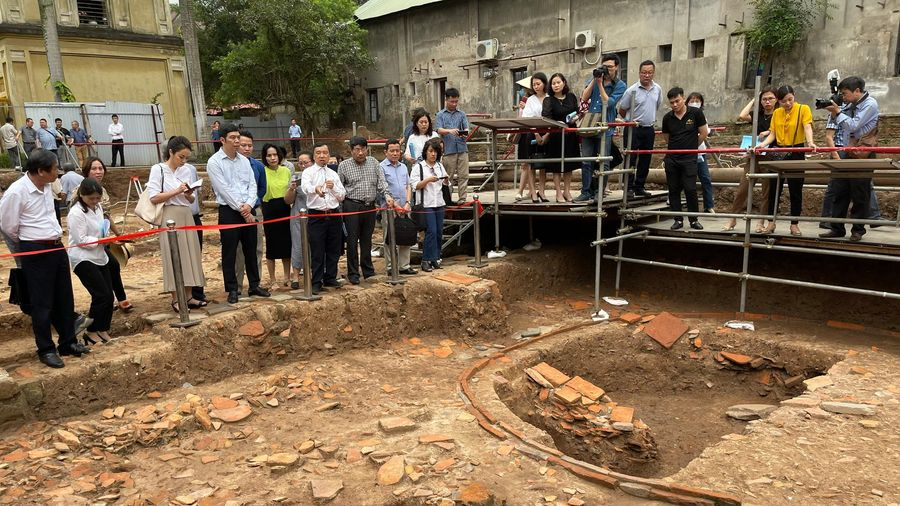 Phát hiện mới tại khu vực điện Kính Thiên : Lại bất ngờ về Hoàng cung Thăng Long