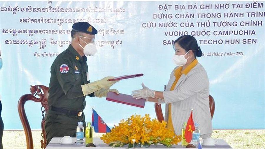Thống nhất kế hoạch đặt bia đá ghi nhớ tại điểm dừng chân của Thủ tướng Hun Sen